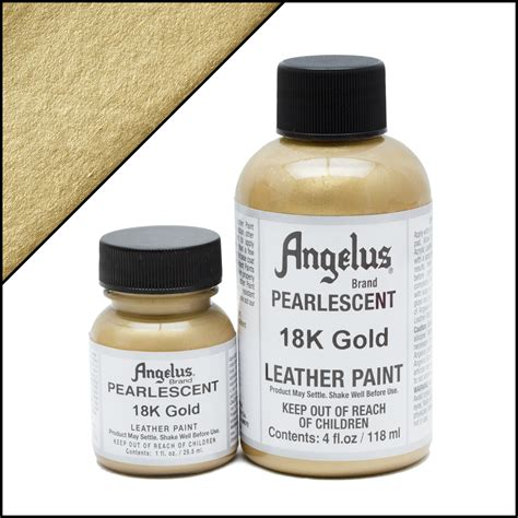 angelus paint gold pearlescent leather paint 18k gold turtle feathers inc