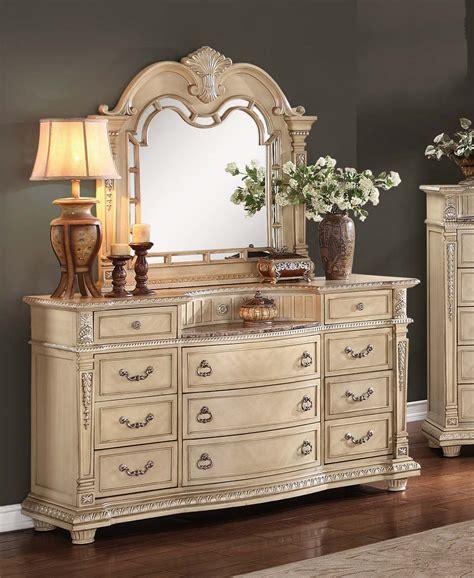homelegance palace dresser 1394 5 homelegancefurnitureonline com homelegance palace ii marble top dresser antique white