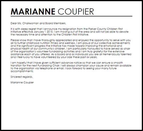 board resignation letter resignation letters livecareer