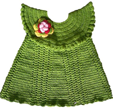 Handmade Woolen - crochet woollen frock for baby at best prices