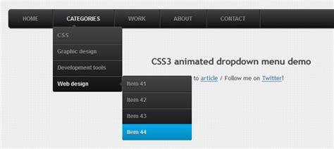 tutorial css dropdown menu 25 useful css3 menu tutorials