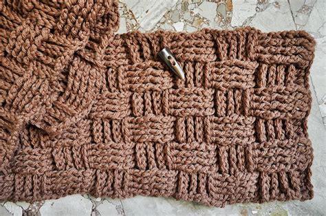 easy basket weave knit pattern easy crochet basketweave neckwarmer