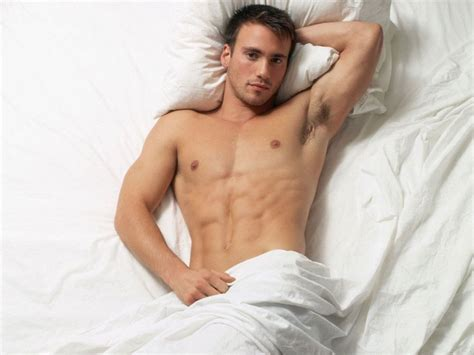 the bed guy free man in bed handsome men computer desktop wallpaper
