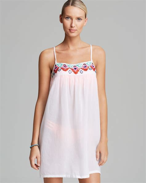 Swim Cover lyst pilyq biscayne swim cover up dress in white