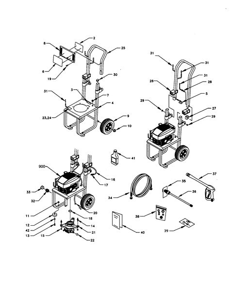 craftsman pressure washer parts diagram craftsman high pressure washer parts model 580768010