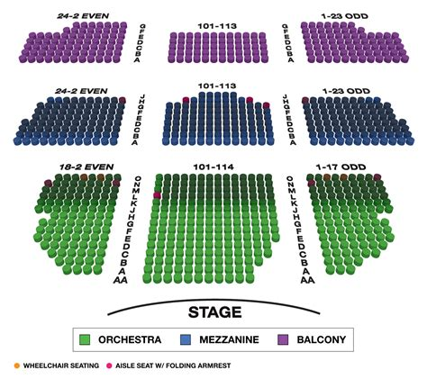 lyceum theatre large broadway seating charts