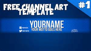 channel banner template free simple blue channel banner template speed 1