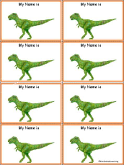 Dinosaurs At Enchantedlearning Com Dinosaur Name Tag Template
