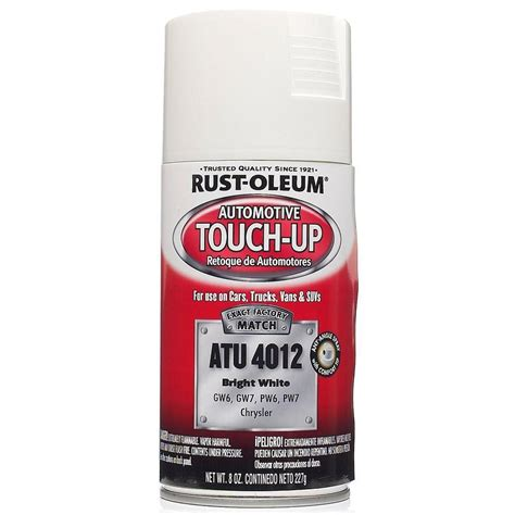 home depot car touch up paint rust oleum automotive 8 oz bright white auto touch up