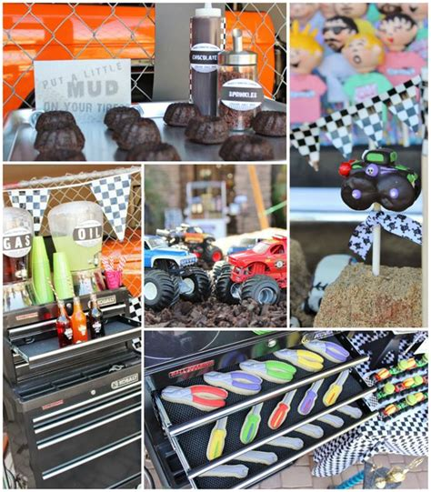 monster jam truck party supplies kara s party ideas monster jam truck party planning ideas