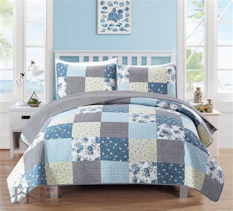 fiore collection fiore collection 3 printed quilt set ebay
