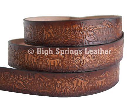 high springs leather l deer leather name belt