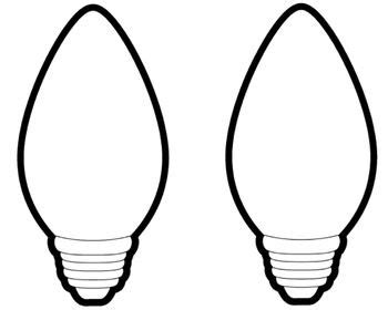 christmas light bulb outline big light bulbs projects bulletin boards lights light bulb and bulletin