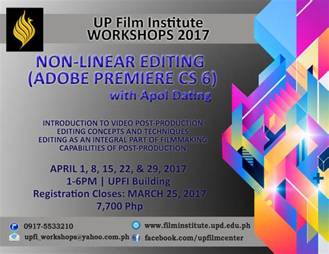 up film workshop up film institute upfi workshop non linear editing up