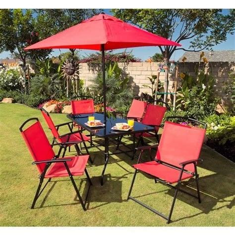 Outdoor Patio Dining Sets With Umbrella Waterproof Patio Dining Set Table Outdoor Furniture Chairs Umbrella Pool Area 188 Free Shipping