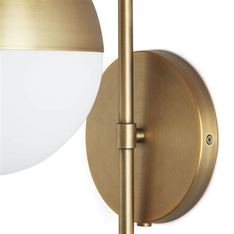 Globe Wall Sconce Betsy Wall Sconce Brass And White Glass Globe High Market Oregonuforeview