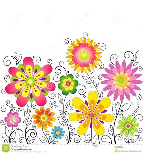 fiori stilizzati vettoriali fondo con i fiori stilizzati illustrazione vettoriale