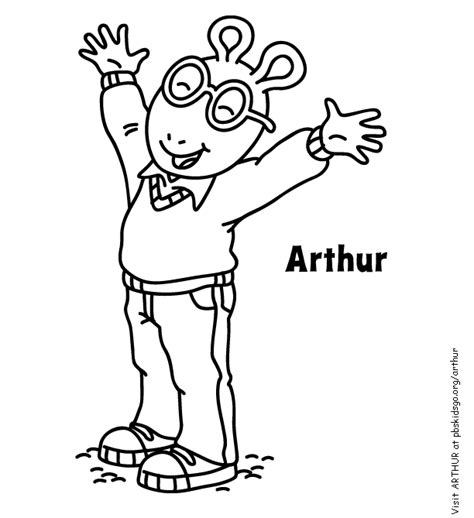 Arthur Printable Coloring Pages Arthur Colouring Pages