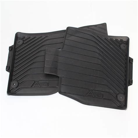 Audi A3 Rubber Floor Mats by Audi A3 8v Car Rubber Floor Mats Original Black