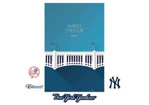 Yankee Stadium Wall Mural yankee stadium minimalist art fathead wall mural