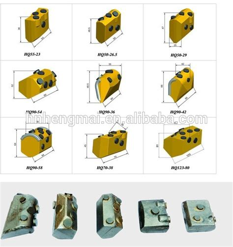 Wedges Ds03 weld on block welding bar ba10 for foundation drilling