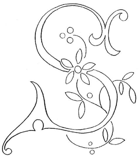 len zeichnen monogram for embroidery letter s needlenthread