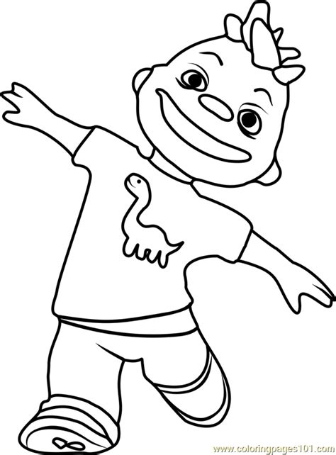 gerald coloring page free sid the science kid coloring