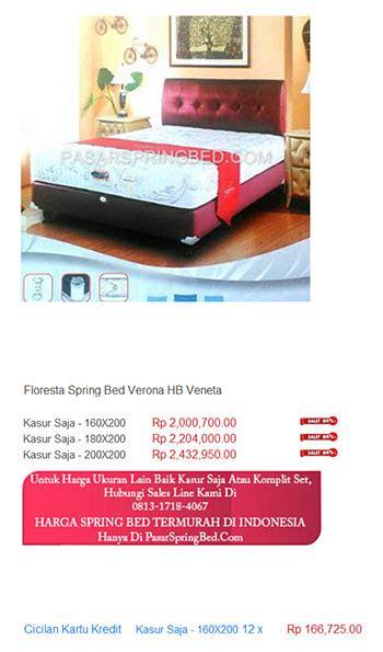 Jual Kasur Palembang Asli Di Jakarta harga floresta bed harga bed termurah di