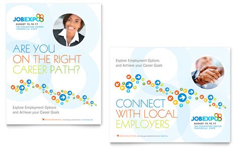 microsoft templates for posters job expo career fair poster template word publisher