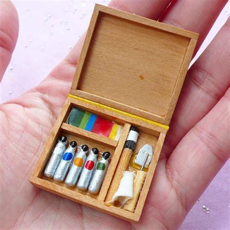 doll house paint dollhouse miniature artist paint box doll house oil paint set color