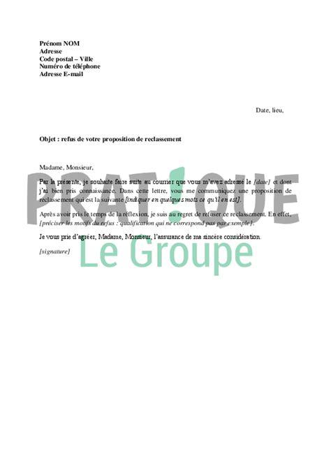 Exemple De Lettre Demande De Reclassement Modele Questionnaire Reclassement Document