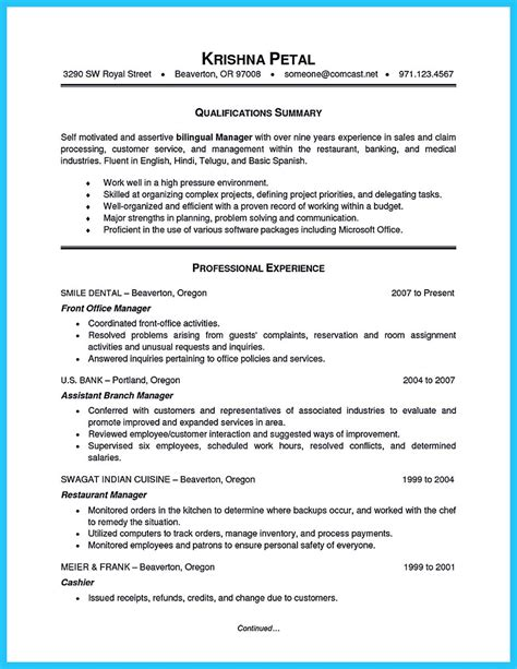 Bilingual Receptionist Sle Resume by Breathtaking Facts About Bilingual Resume You Must