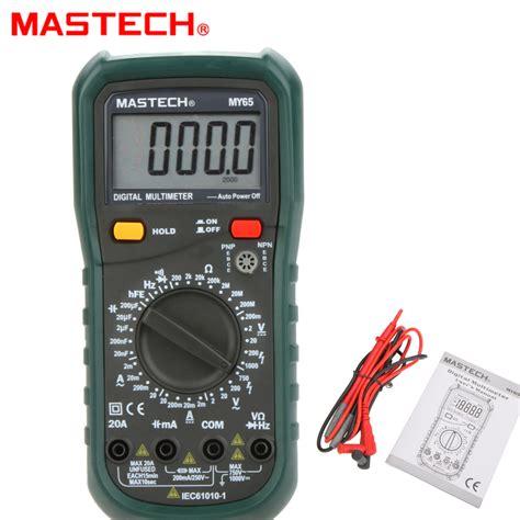 Multimeter Digital Mastech mastech my65 4 1 2 high accuracy digital multimeter dmm ac