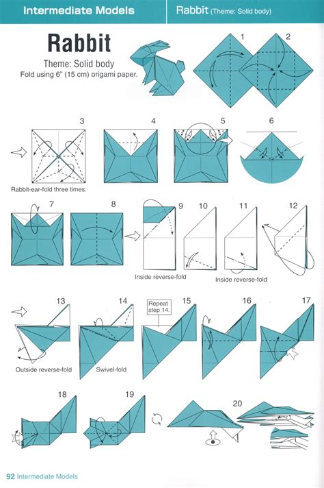 Origami Diagram - easter origami