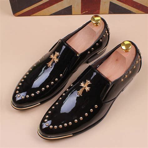 discount dress shoes discount sale pointed toe oxfords slip on rivets