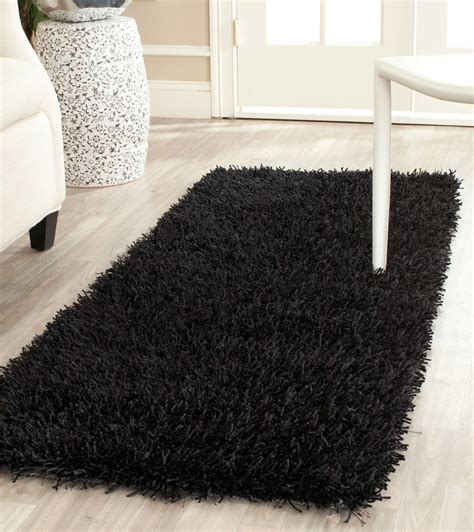 new orleans rugs plush black shag new orleans collection safavieh