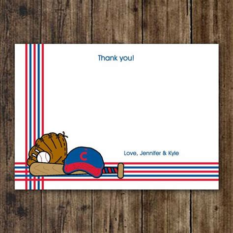 Chicago Cubs Birthday Card Chicago Cubs Baseball Thank You Note Baby Shower