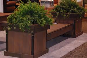 wooden decks build a deck bench with planter boxes