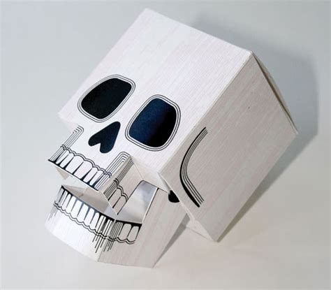 Paper Craft Skull - papercraft skull with moving jaw just in time for