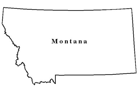 Montana Map Outline by Montana State Outline Clip Pictures To Pin On Pinsdaddy