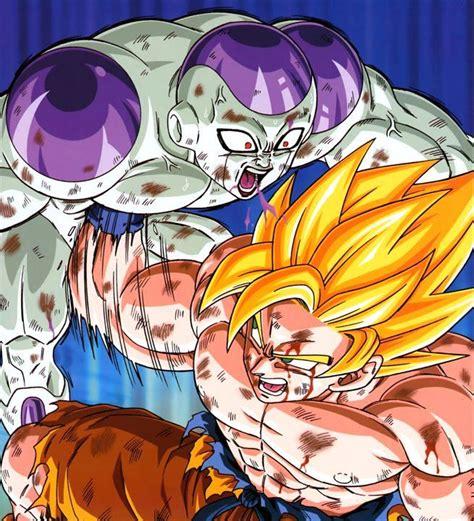 Imagenes De Goku Y Freezer | mi dibujo de goku vs freezer taringa