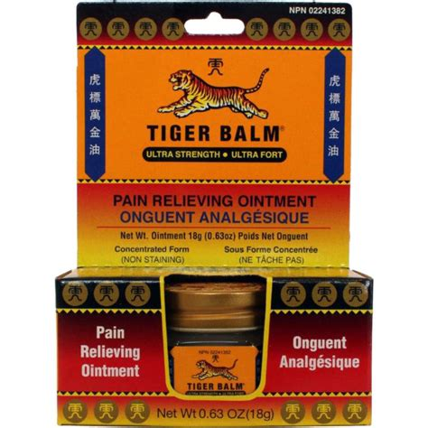 icy hot or tiger balm onguent analg 233 sique ultra formula 18 g de tiger balm