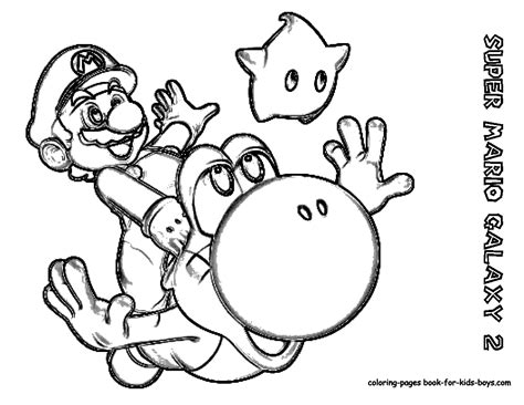 Printable Mario Coloring Pages printables nintendi wii mario galaxy coloring pages