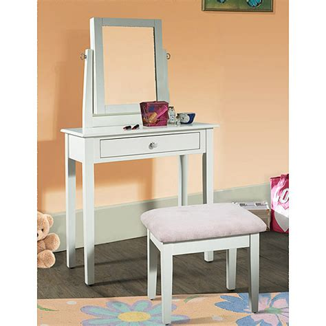 White Vanity Walmart by Youth Vanity Bench And Mirror Set With Jewelry Storage