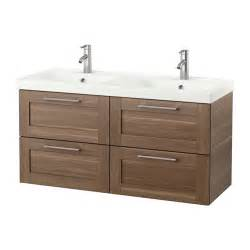 Ikea Walnut Effect Vanity Godmorgon Odensvik Sink Cabinet With 4 Drawers Walnut