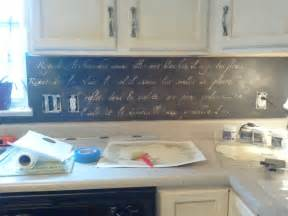 diy stenciled backsplash snazzy things