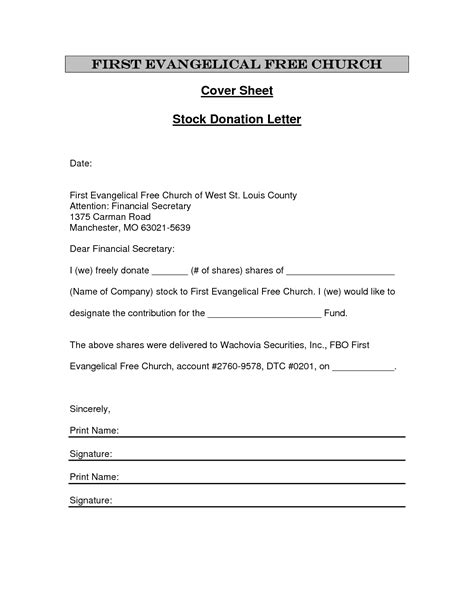 best photos of church donation letter template sample