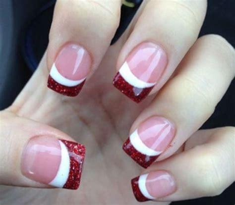 christmas manicure ideas  pinterest xmas nail