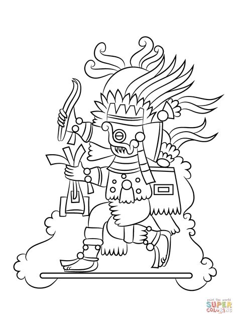 quetzalcoatl coloring page aztec gods coloring pages quetzalcoatl god page grig3 org