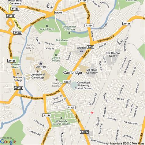 map uk cambridge map of cambridge united kingdom hotels accommodation